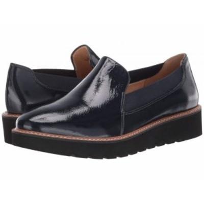 Naturalizer ナチュラライザー レディース 女性用 シューズ 靴 ローファー ボートシューズ Adra Inky Navy Patent Leather【送料無料】