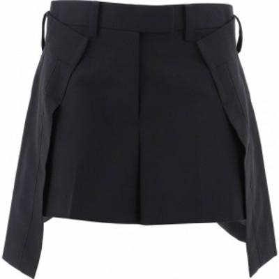 サカイ Sacai レディース ショートパンツ ボトムス・パンツ Flared Shorts With Insert Black