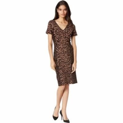ミリー Milly レディース ワンピース ワンピース・ドレス Animal Print Fitted Dress Natural Combo