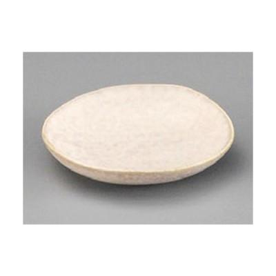 ☆ 珍味 ☆ グレージュホワイト豆皿 [ 73 x 13mm ] 【料亭 旅館 和食器 飲食店 業務用 】