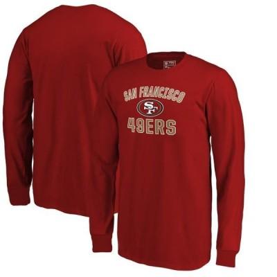 キッズ スポーツリーグ フットボール San Francisco 49ers NFL Pro Line by Fanatics Branded Youth Victory Arch Long Sleeve T-Shirt - Scar