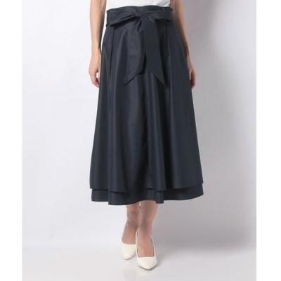LAPINE BLEUE / ラピーヌ ブルー ポリエステルコットンブロード リボン付きスカート