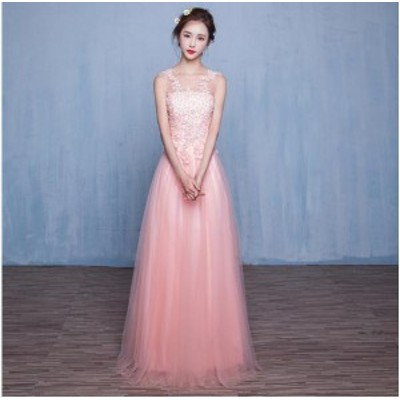 Aライン着痩せロングドレス披露宴ドレス上品レディース ドレス同窓会ドレスパーティードレス お呼ばれ 結婚式ドレス