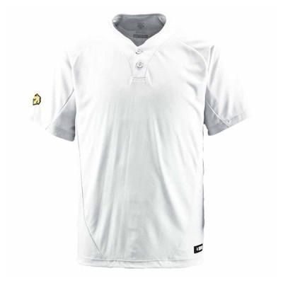 デサント ベースボールシャツ(SWHT・サイズ:L) DESCENTE ベースボールシャツ(2ボタン) DS-DB201-SWHT-L 返品種別A