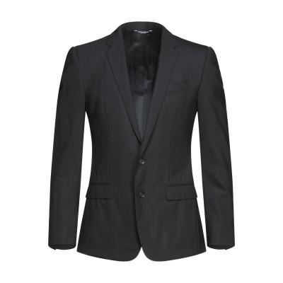 ドルチェ & ガッバーナ DOLCE & GABBANA テーラードジャケット ブラック 46 バージンウール 97% / ポリウレタン 3% テー