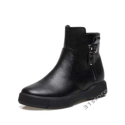 ブーツレディースマーティンブーツショートブーツカット裏起毛黒ブラウンクラシック靴厚底編み上げブーツ美脚歩きやすい秋冬新作