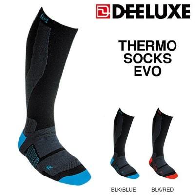 ゆうパケット対応可能! ディーラックス DEELUXE スノーボード サーモ ソックス エヴォ 靴下 くつした THERMO SOCKS EVO  ロング 15%off