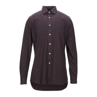 ラルディーニ LARDINI シャツ ディープパープル 40 コットン 100% シャツ