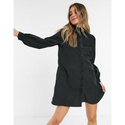 ローラメイ ミディドレス レディース Lola May smock dress with volume sleeves  エイソス ASOS sale ブラック 黒