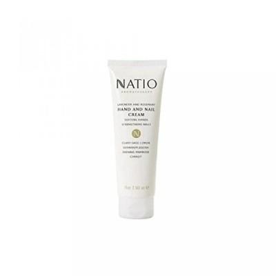 美容・コスメ ネイル ネイルケア Natio Lavender And Rosemary Hand & Nail Cream (75ml) (Pack of 6) 正規輸入品