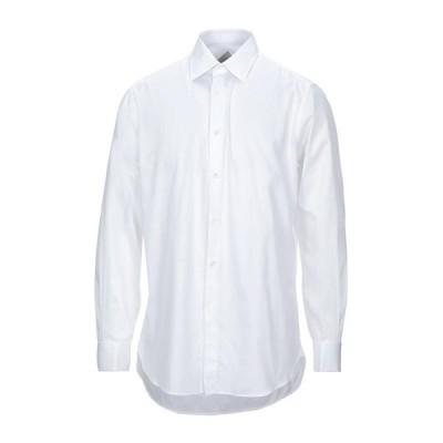 PAL ZILERI 無地シャツ ファッション  メンズファッション  トップス  シャツ、カジュアルシャツ  長袖 ホワイト