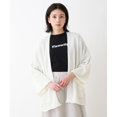 (SHOO・LA・RUE/シューラルー)カノコ編みニットカーディガン/レディース オフホワイト(003)