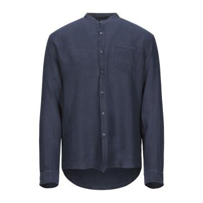 フォーティーウエフト 40WEFT シャツ ダークブルー L リネン 100% シャツ