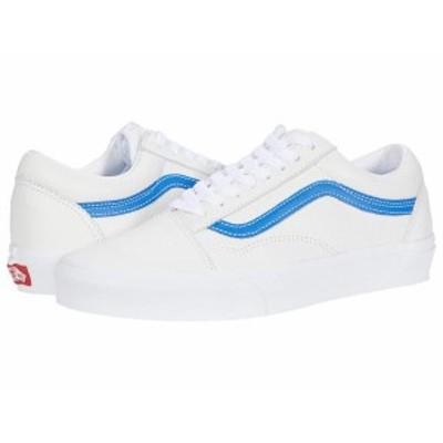 バンズ メンズ スニーカー シューズ Old Skool¢ (Leather Pop) True White/Victoria Blue