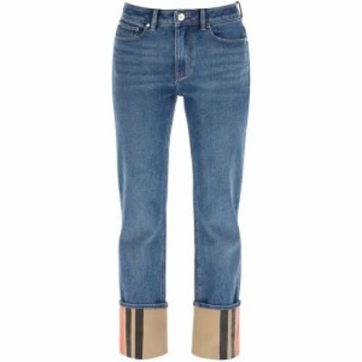 BURBERRY/バーバリー デニムパンツ MID INDIGO BLUE Burberry marissa jeans with striped turn-up レディース 春夏2021 8037376 ik