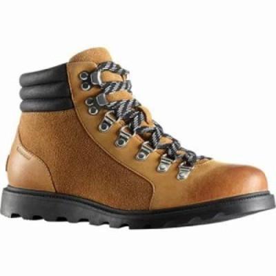 ソレル ブーツ Ainsley Conquest Boot Camel Brown/Black Waterproof Leather/Suede