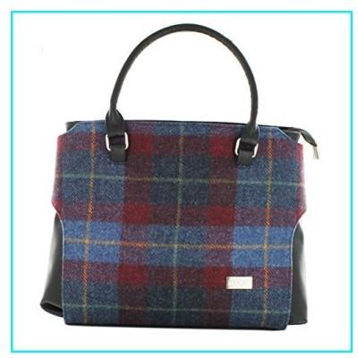 Stylish Irish Plaid Handbag, Made in Ireland, Blue & Red【並行輸入品】