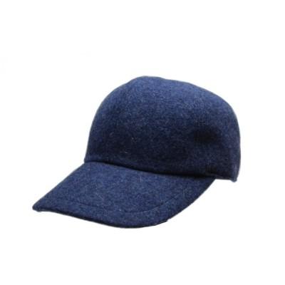帽子キャップ メンズ 大きいサイズ 小さいサイズ 秋冬 日本製 ブランド 防寒 ブルー NISHIKAWAオリジナル 41-68187-H3018-blue