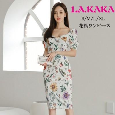 ドレスキャバワンピース。上品でエレガントな汎用性が高い花柄プリントのワンピースです。