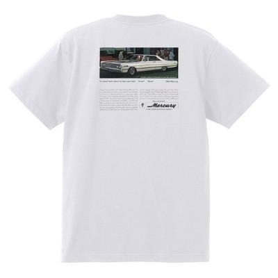 アドバタイジング マーキュリーTシャツ 白 1157 黒地へ変更可 1966 レトロ モントレー マーキー クーガー パークレーン コロニーパーク
