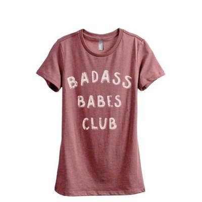レディース 衣類 トップス Badass BABES Club Women's Fashion Relaxed T-Shirt Tee Heather Rouge Small Tシャツ