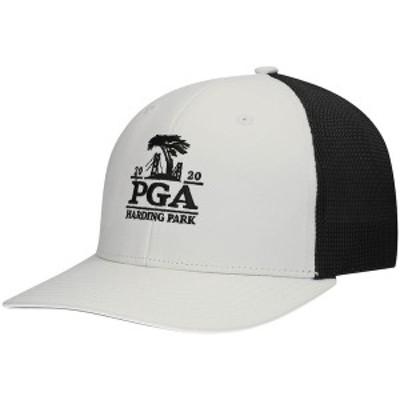 アディダス メンズ 帽子 アクセサリー 2020 PGA Championship adidas Crestable Trucker Adjustable Hat White/Black