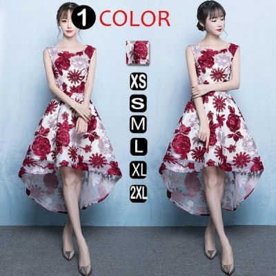 ワンピース結婚式パーティードレスフォーマルドレスドレスお呼ばれフォーマル大きいサイズ服装大人服刺繍ブライズメイド上品20代30代