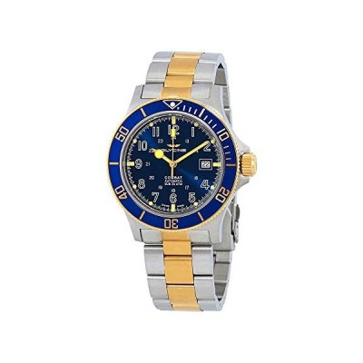 腕時計 グリシン スイスウォッチ GL0081 Glycine Combat Sub Blue Dial Two-Tone Men's Watch GL0081