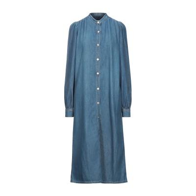 ガニー GANNI 7分丈ワンピース・ドレス ブルー 34 コットン 100% 7分丈ワンピース・ドレス