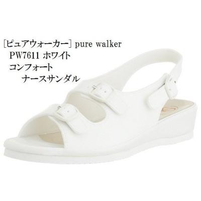 PW7611 pure walker (ピュアウォーカー) コンフォート サンダル ナースサンダル 足裏フィット レディス