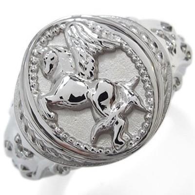 メンズリング ダイヤモンド 指輪 ペガサス 馬 K10