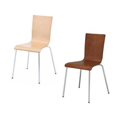 送料無料 新品 「プライウッドチェア」 椅子 会議用椅子 イス ミーティングチェア カフェチェア ダイニングチェア ワークチェア スタッキングチェア 2色あります