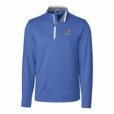 Cutter & Buck カッター アンド バック スポーツ用品  Cutter & Buck Kansas Jayhawks Blue Endurance Long Sleeve Half