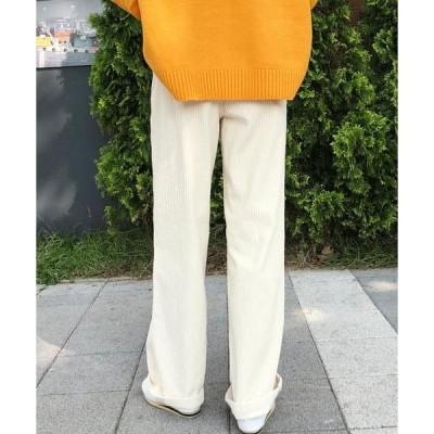 thanksmerry レディース パンツ Wang golden pintuck wide trousers