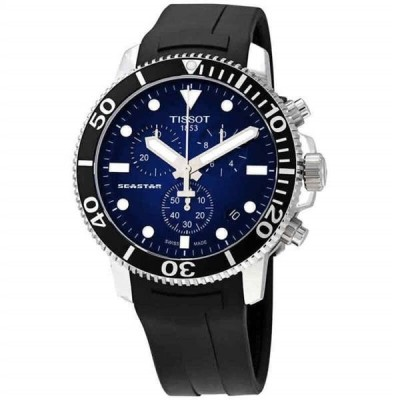 腕時計 ティソット メンズ Tissot Seastar 1000 Chronograph Blue Dial Men's Watch T120.417.17.041.00