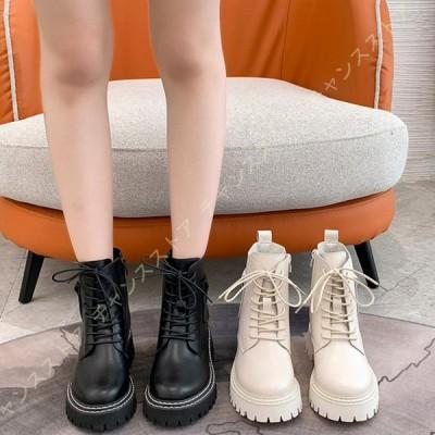 ブーツ レディース ショートブーツ ブーティ インヒール 厚底 ハイヒール 痛くない 歩きやすい 軽量 ヒール 秋冬 大きいサイズ 小さい 本革 ブラック 黒