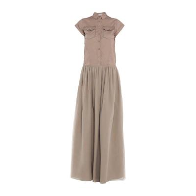 ブルネロ クチネリ BRUNELLO CUCINELLI ロングワンピース&ドレス カーキ XS コットン 100% / シルク / 真鍮/ブラス