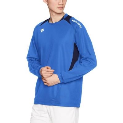 [デサント] バレーボール 長袖ライトゲームシャツ 吸汗速乾 DSS-5410 アブル×ネイビー M