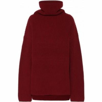 ジョゼフ Joseph レディース ニット・セーター トップス Ribbed-knit wool turtleneck sweater Plum