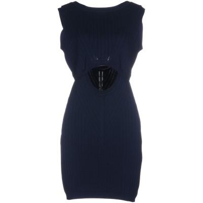 INTROPIA ミニワンピース&ドレス ダークブルー L コットン 90% / ナイロン 10% ミニワンピース&ドレス