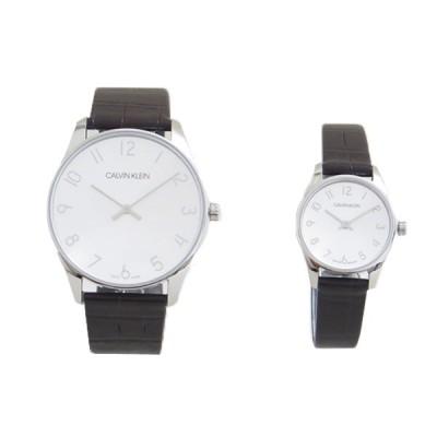 カルバンクライン CALVIN KLEIN 腕時計 ペアウォッチ K4D211G6-K4D231G6 クォーツ シルバー ダークブラウン (ご注文から3〜5日以内に出荷可能商品)