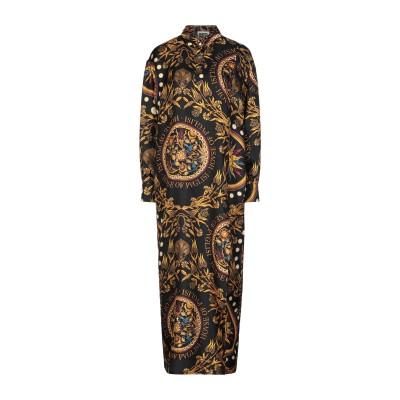 ファウスト プリージ FAUSTO PUGLISI 7分丈ワンピース・ドレス ブラック 38 シルク 100% 7分丈ワンピース・ドレス