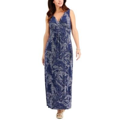 チャータークラブ レディース ワンピース トップス Printed Sleeveless Maxi Dress