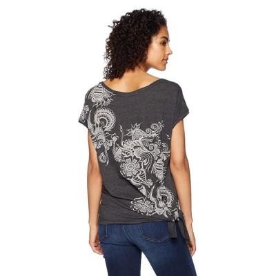 Jockey Women's Side Tie T-Shirt, Kilter deep Black, M