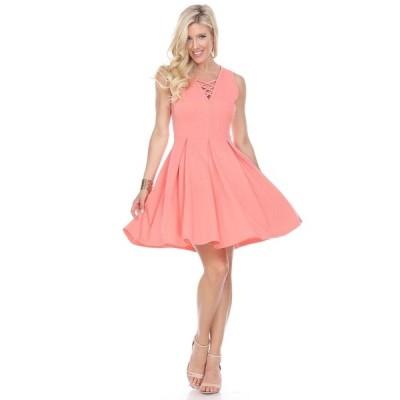 ホワイトマーク ワンピース トップス レディース Women's Shay Fit and Flare Dress Coral