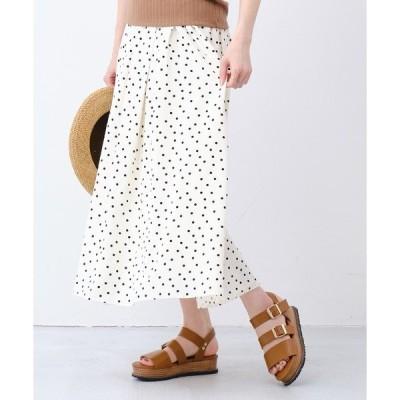 スカート ドットギャザースカート/CD0043