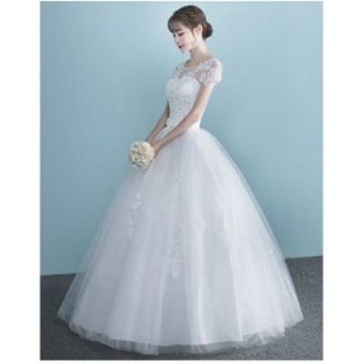 スパンコール撮影写真結婚式披露宴花嫁 レディースウェディングドレス二次会パーティードレス フリル 大きいサイズ エレガントドレス