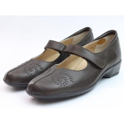 Ganter ガンター 靴 ストラップパンプス グレー 本革 3E セール 日本製 ドイツ コンフォートシューズ 送料無料
