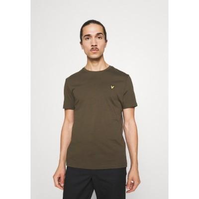 ライルアンドスコット Tシャツ メンズ トップス PLAIN - Basic T-shirt - olive