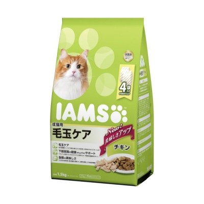 アイムス 成猫用 毛玉ケア チキン 1.5kg ペット